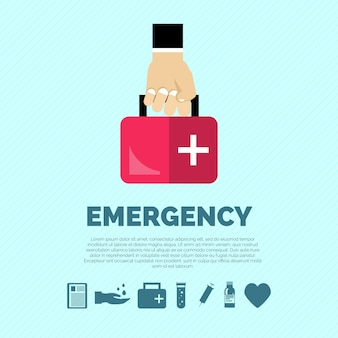 Conceito de emergência plano