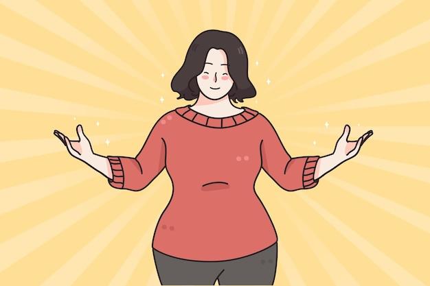 Conceito de emoções positivas de confiança de auto-estima