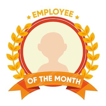 Conceito de empregado do mês com perfil