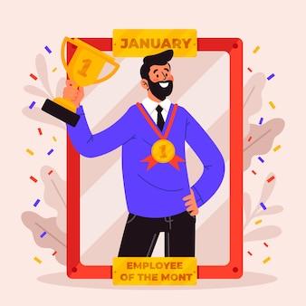 Conceito de empregado do mês com prêmio