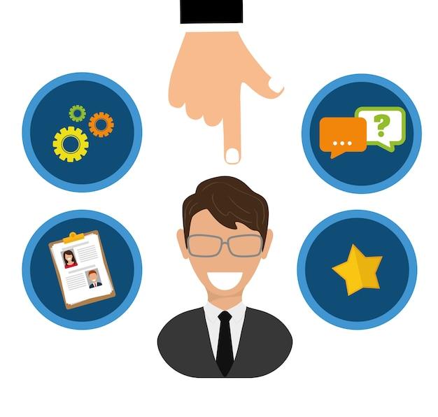 Conceito de empregos com design de ícone