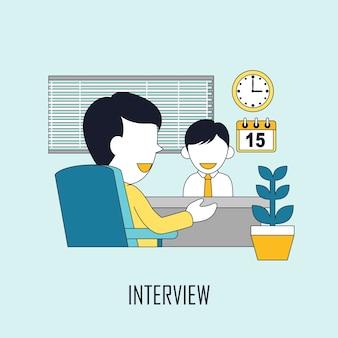 Conceito de encontrar emprego: entrevista em linha