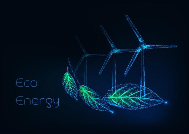 Conceito de energia alternativa eco