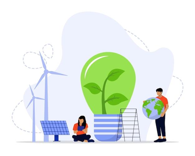 Conceito de energia limpa verde energia renovável para um futuro melhor