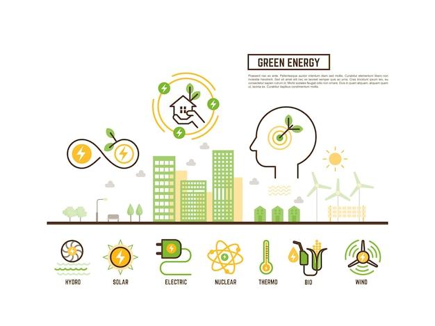 Conceito de energia verde e renovável