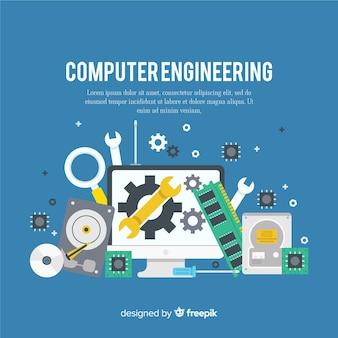 Conceito de engenharia de computador plana
