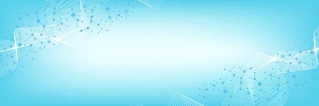Conceito de engenharia genética e manipulação de genes de ilustração vetorial científica. hélice de dna, fita, molécula ou átomo de dna, neurônios. estrutura abstrata para ciência ou formação médica. crispr cas9.