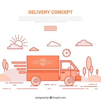 Conceito de entrega com estilo moderno