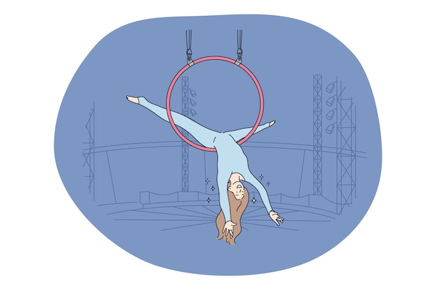 Conceito de entretenimento e performance de circo