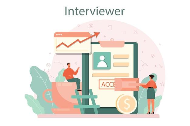 Conceito de entrevista de emprego.