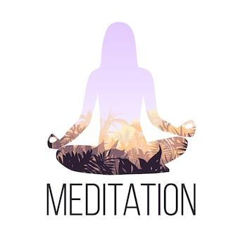 Conceito de equilíbrio de ioga