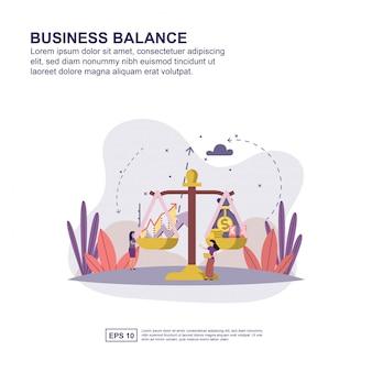 Conceito de equilíbrio de negócios