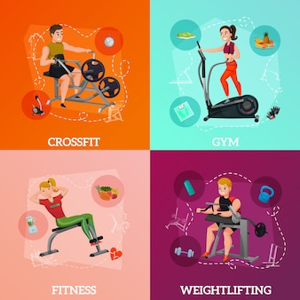 Conceito de equipamento de exercício