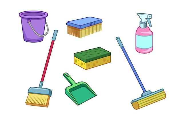 Conceito de equipamento de limpeza de superfícies