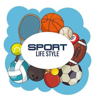 Conceito de equipamento esportivo