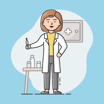 Conceito de equipe médica, cuidados de saúde e remédios