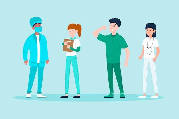 Conceito de equipe profissional de saúde