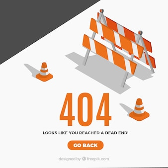 Conceito de erro 404 criativo