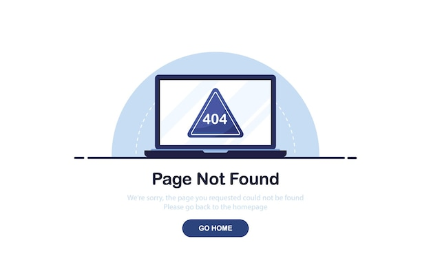 Conceito de erro 404 para modelo de site em design plano