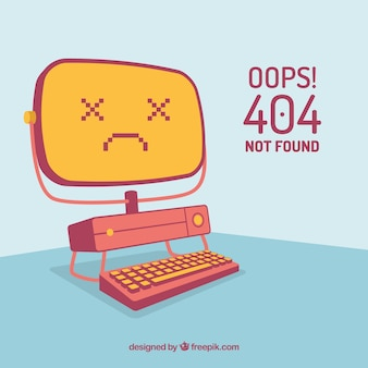 Conceito de erro criativo 404