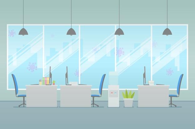Conceito de escritório vazio