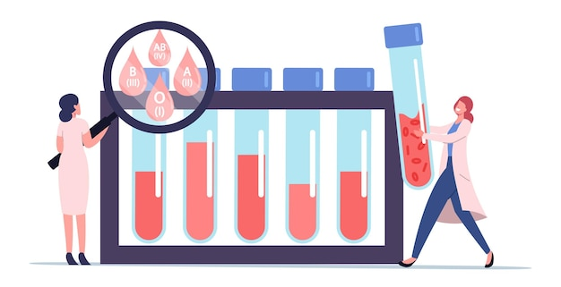 Conceito de especialização em teste expresso para tipo sanguíneo