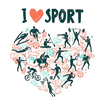 Conceito de esporte de amor