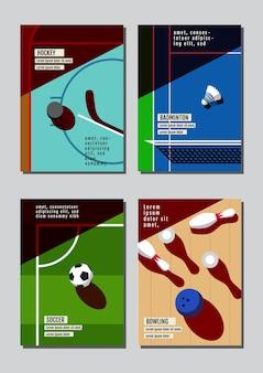 Conceito de esporte de design gráfico