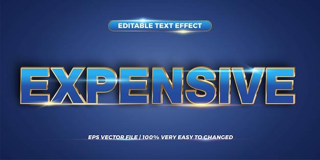 Conceito de estilo de efeito de texto editável - palavra cara