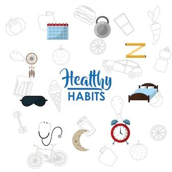 Conceito de estilo de vida de hábitos saudáveis