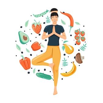 Conceito de estilo de vida saudável. mulher praticando ioga.