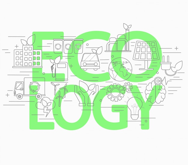 Conceito de estilo lineal de ecologia.