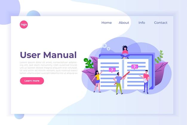 Conceito de estilo simples do manual do usuário