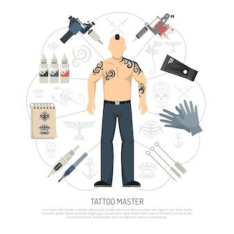 Conceito de estúdio de tatuagem