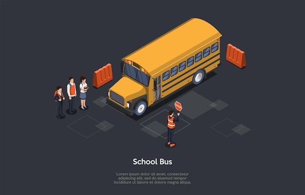 Conceito de estudo, educação e transporte Vetor Premium