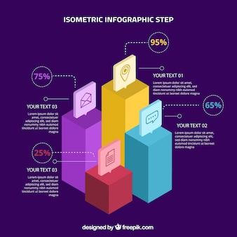 Conceito de etapas de infográfico