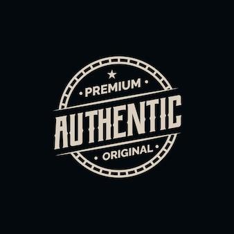 Conceito de etiqueta autêntica premium
