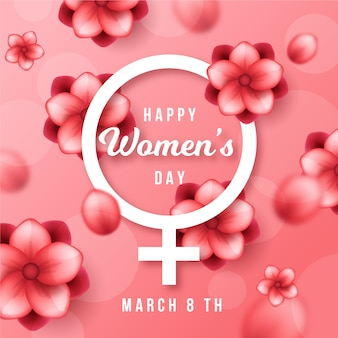 Conceito de evento dia das mulheres realista