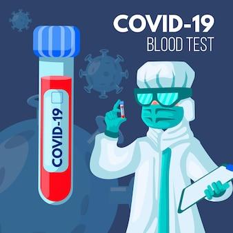 Conceito de exame de sangue de coronavírus