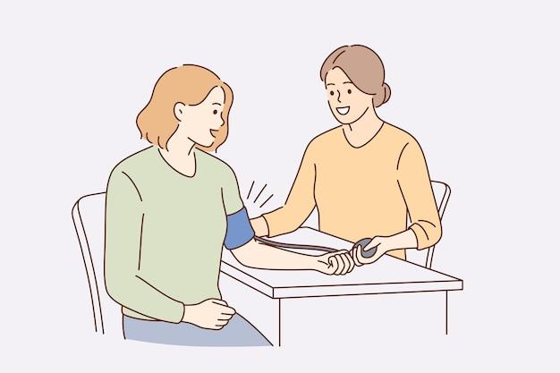 Conceito de exame médico de pressão arterial