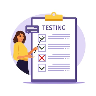 Conceito de exame online na internet