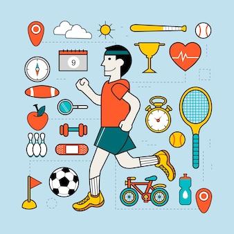 Conceito de exercício em linha fina