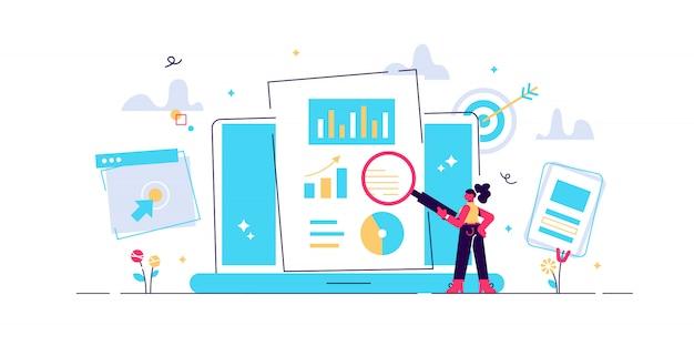 Conceito de experiência do usuário. ilustração otimizando a experiência do usuário em e-commerce, desenvolvendo programação e codificação.