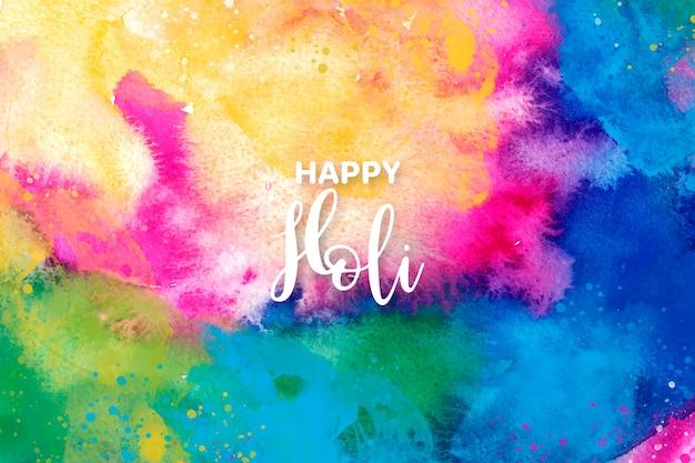 Conceito de explosão de cores em aquarela para o festival de holi