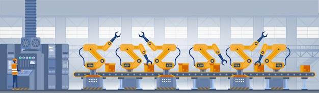 Conceito de fábrica inteligente da indústria.