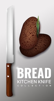 Conceito de faca de cozinha realista