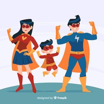 Conceito de família super-herói