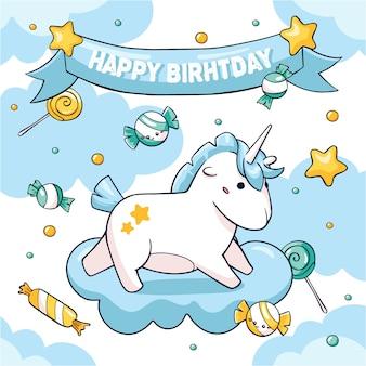 Conceito de fantasia de cartão de aniversário