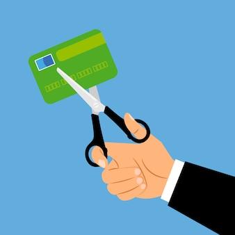 Conceito de fechamento de conta de cartão de débito