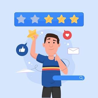 Conceito de feedback médio ilustrado